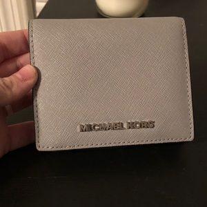 Michael Kors Grey Leather Bifold Wallet